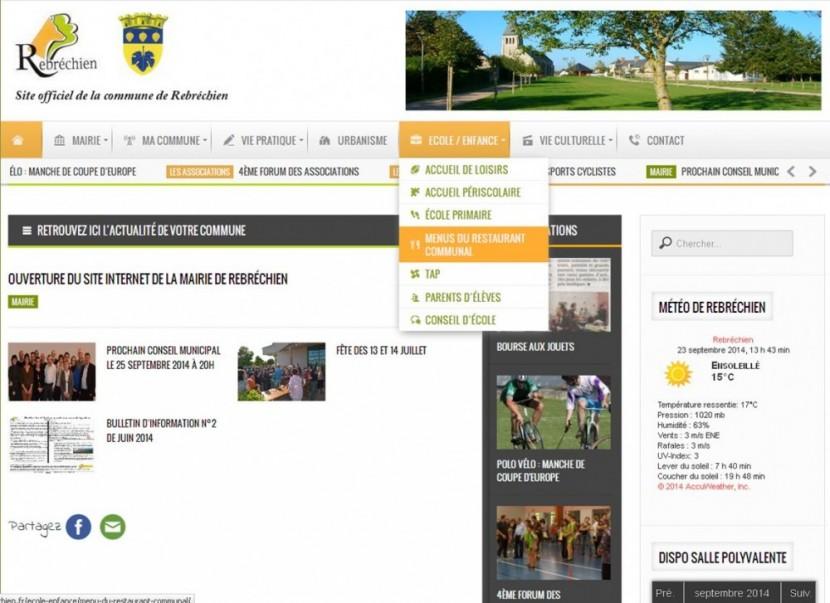 Ouverture du site internet de la Mairie de Rebréchien