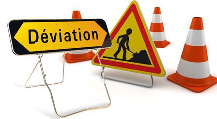 Déviation et fermeture de route
