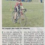 Courrier du loiret 20.11.2014 cyclo cross