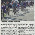 Cyclisme RCL avril 2015