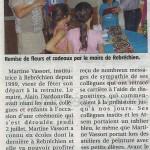 Retraite Martine Vassort