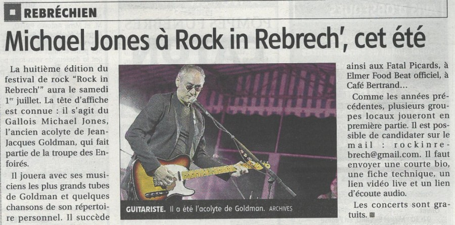 Rock in Rebrech' J-16 / ouverture à 17h30