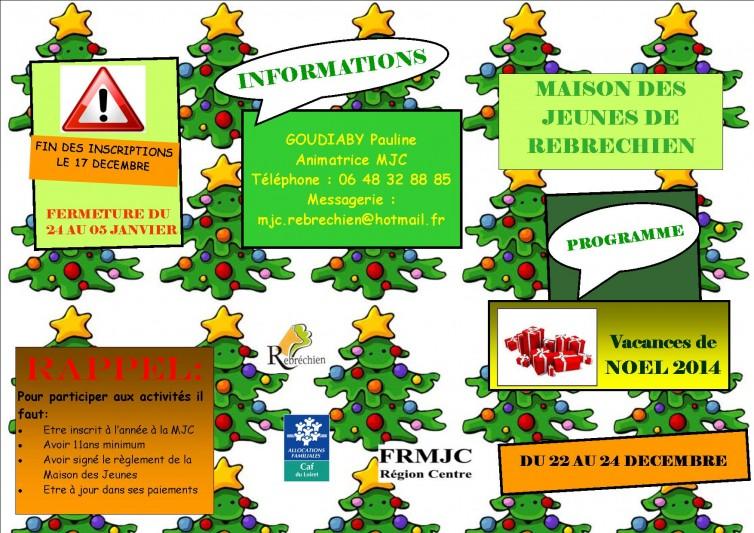 Programme de Noël à la MJC