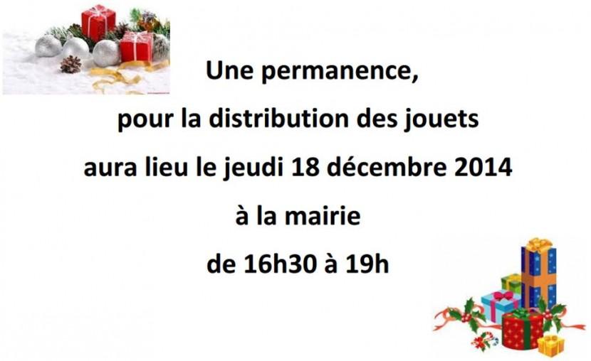 Permanence «cadeaux de Noël»
