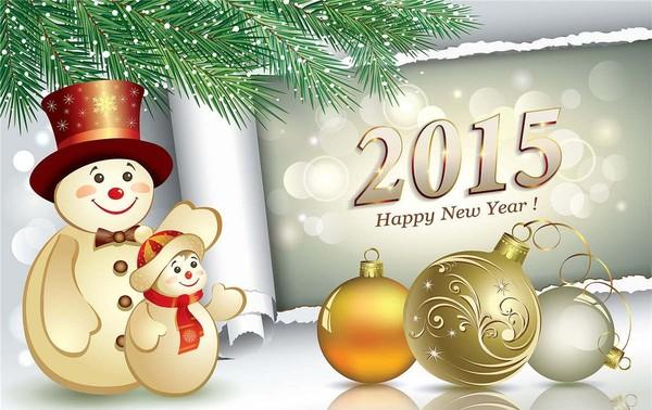 Tous nos meilleurs vœux pour 2015 !