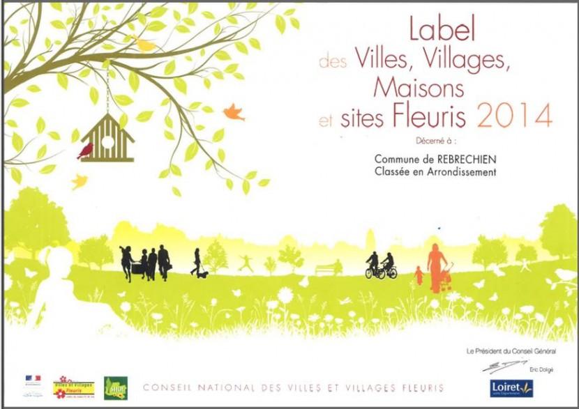 Obtention d'un label de fleurissement pour 2014