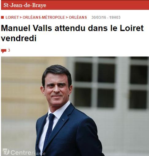 Manuel Valls attendu ce 1er avril à Rebréchien