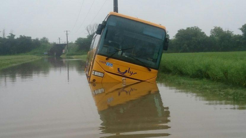 Photos d'inondations à Rebréchien