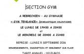 Renseignements pour s'inscrire à la Gym