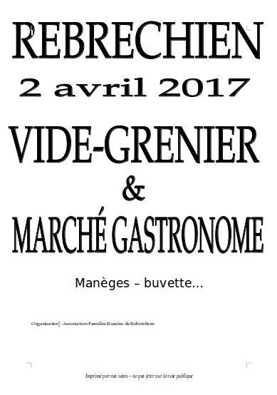 Vide-grenier et Marché Gastronome le 2 avril