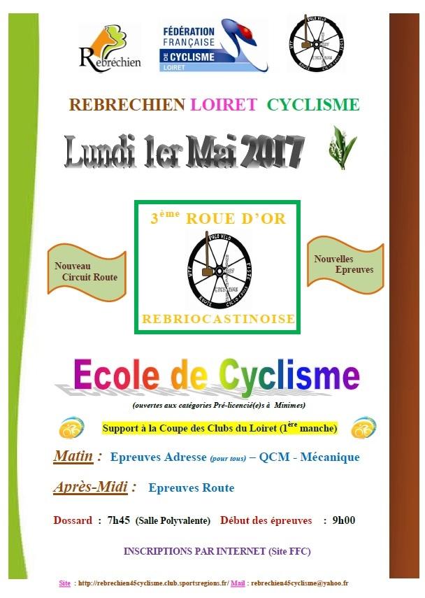 3ème Roue d'or cycliste le 1er mai à Rebréchien