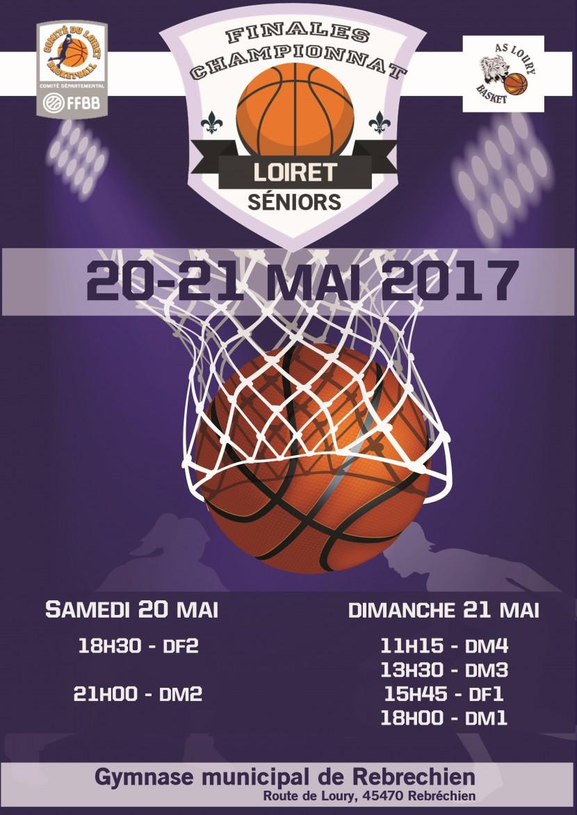Finales départementales de Basket les 20 / 21 mai 2017