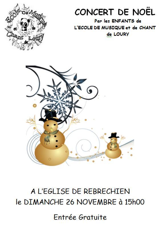 Concert de Noël de l'école de musique de Loury