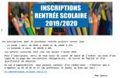 Inscriptions à l'école rentrée 2019/2020