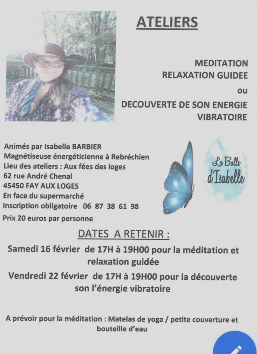 Atelier de relaxation et de méditation guidée