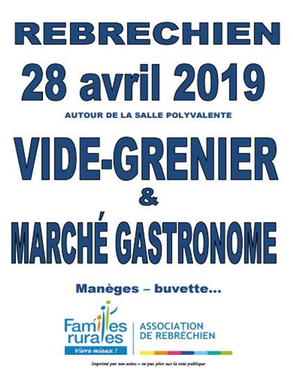 Inscriptions Vide-grenier et marché gastronome du 28 avril à Rebréchien