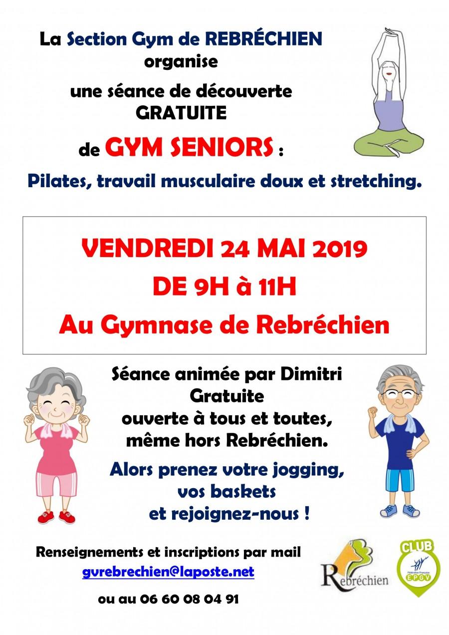 Séance gratuite de Gym Vendredi 24 mai à Rebréchien