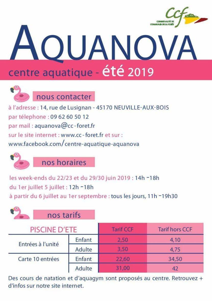 Ouverture Aquanova