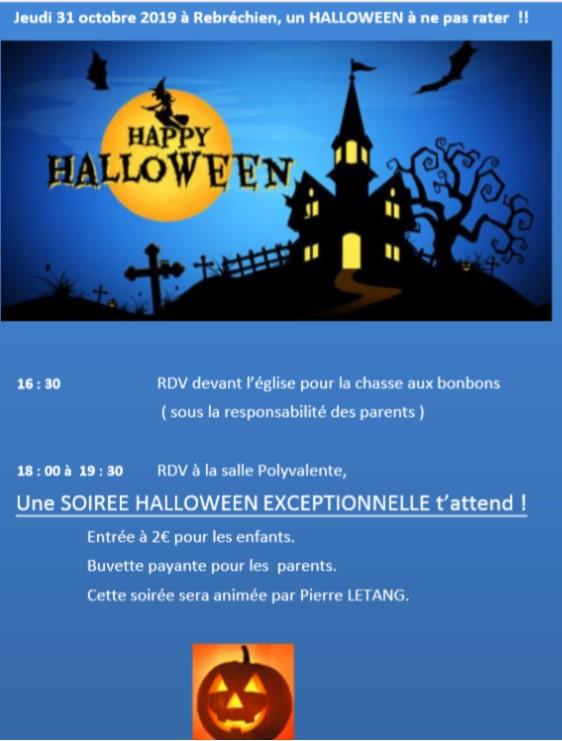 Venez fêter Halloween à Rebréchien le 31 octobre !!!!