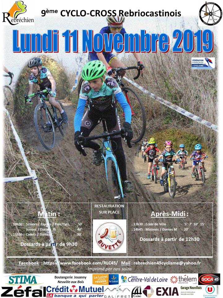 9ème Cyclo-Cross Rebriocastinois le 11/11