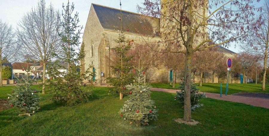 Végétalisation de Noël, place de l'église