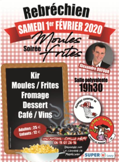 Inscriptions pour la soirée «Moules frites» du 1er février