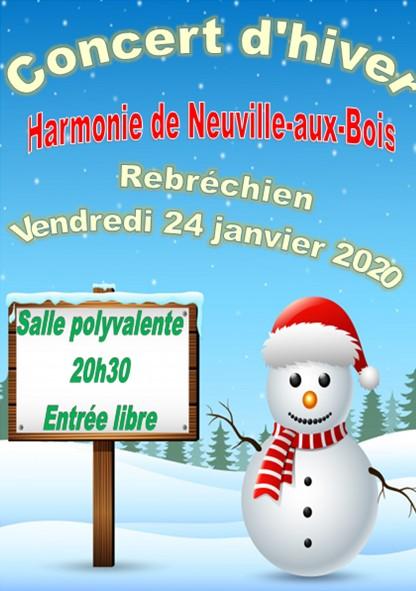 Concert d'hiver de l'harmonie de Neuville-aux-Bois à la salle polyvalente