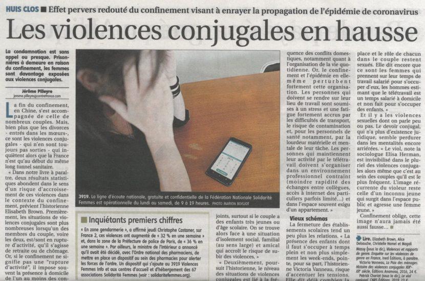 Violences conjugales… 3919 !