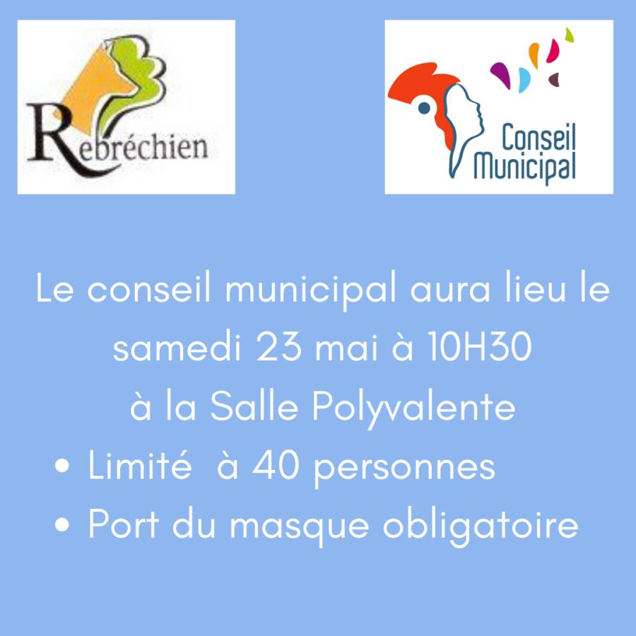 Conseil municipal – 23 mai 2020