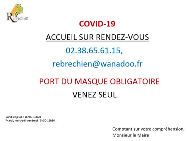 Accueil en Mairie à compter du 11 mai