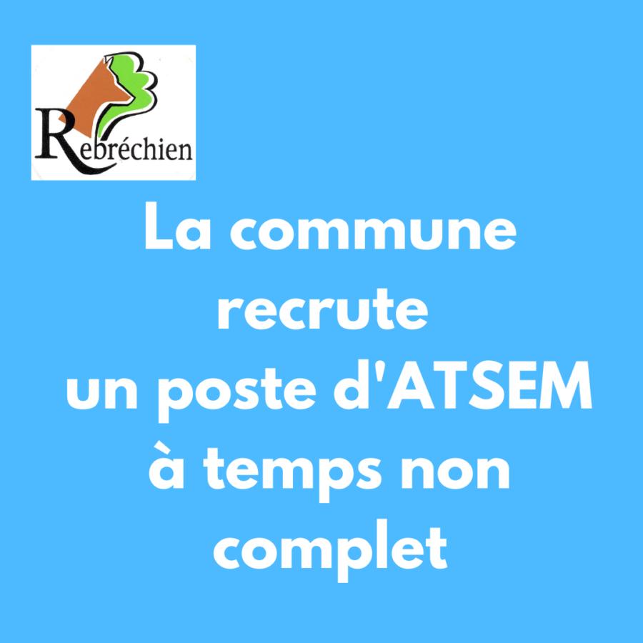 La commune recrute : poste d'ATSEM