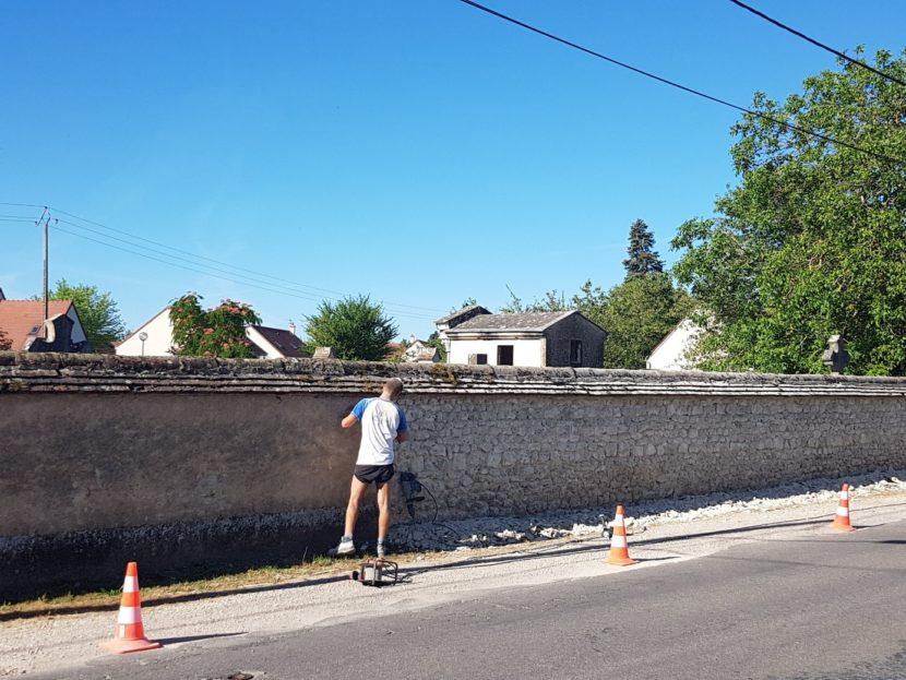 Rénovation du mur du cimetière