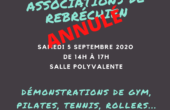 ANNULATION du Forum des associations - 5 septembre 2020