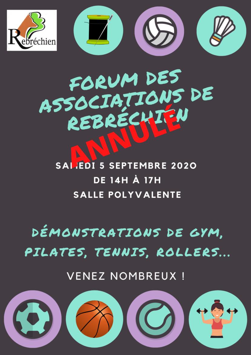 ANNULATION du Forum des associations – 5 septembre 2020