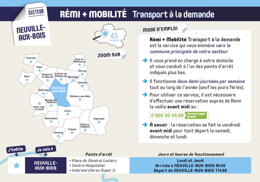 Remi+ Mobilité – un service à la demande