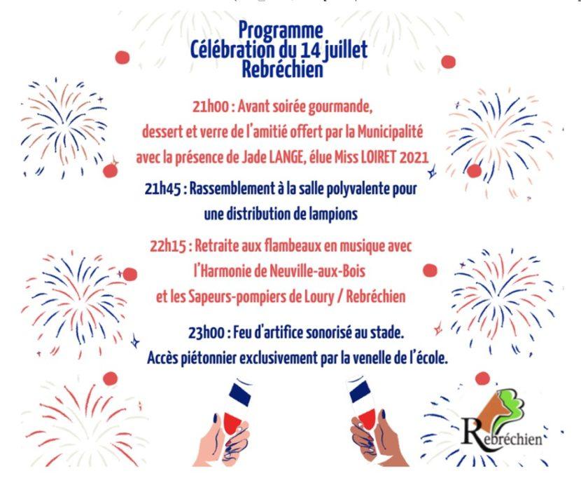 Festivités du 14 juillet 2021