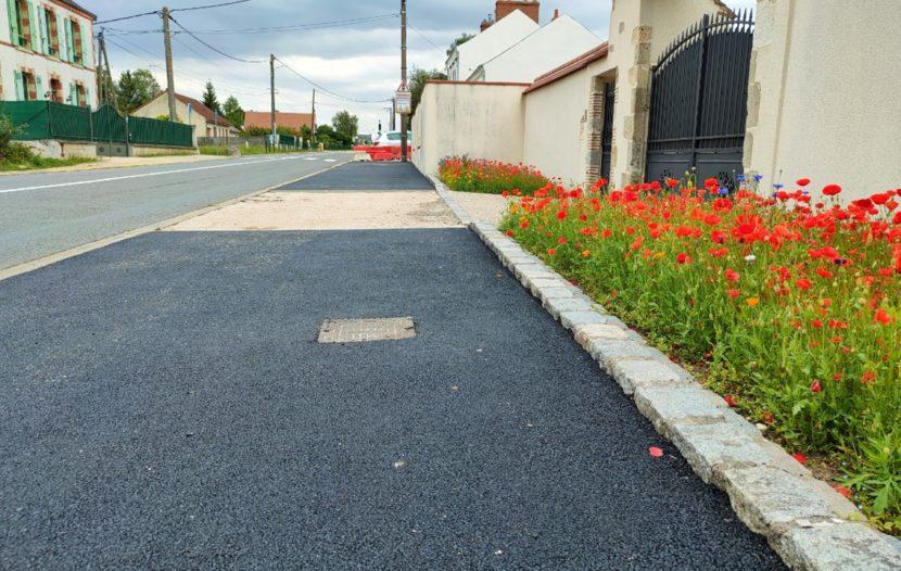 Travaux d'été sur Rebréchien (Parking et trottoirs)