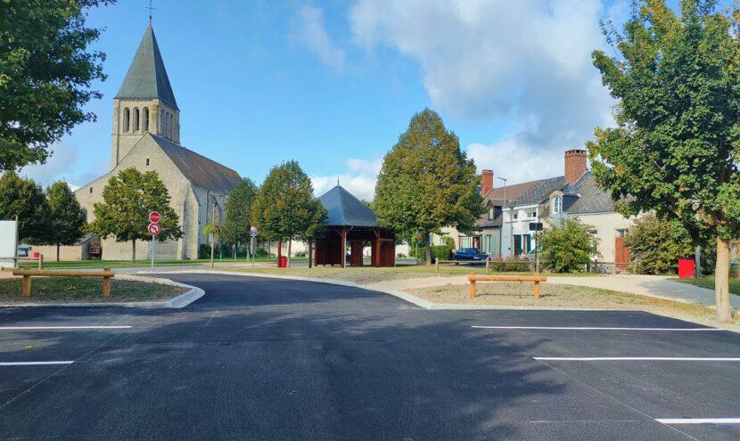 Nouveau parking de 16 places en centre bourg