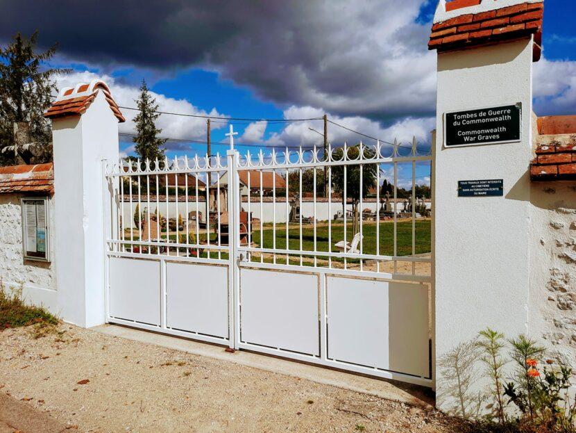 Réfection du portail du cimetière